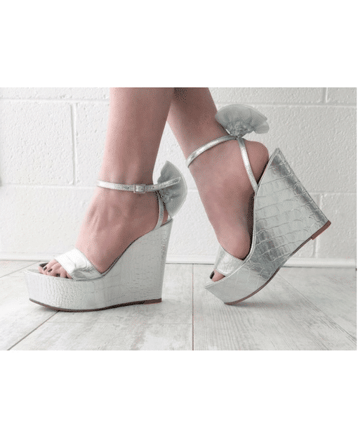 Silver Wedges Alila Boutique