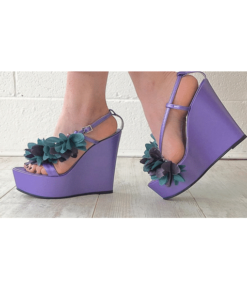 Purple Flower Wedges Alila