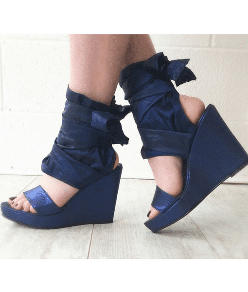 Blue wrap wedges Alila