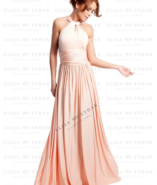 Alila-Dusty-Peach-Multiwrap-Dress-by-Eliza-and-Ethan