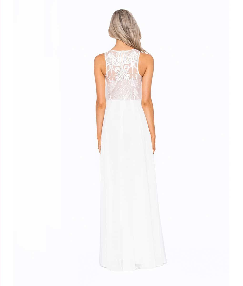Alila Boutique White Lace Gown