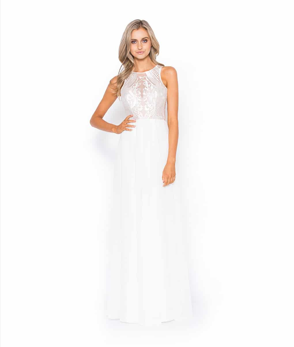 Alila Boutique White Lace Gown