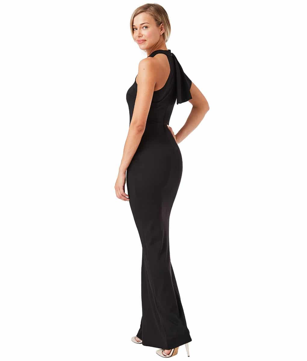 Alila-Black-Slinky-Gown-City-Goddess