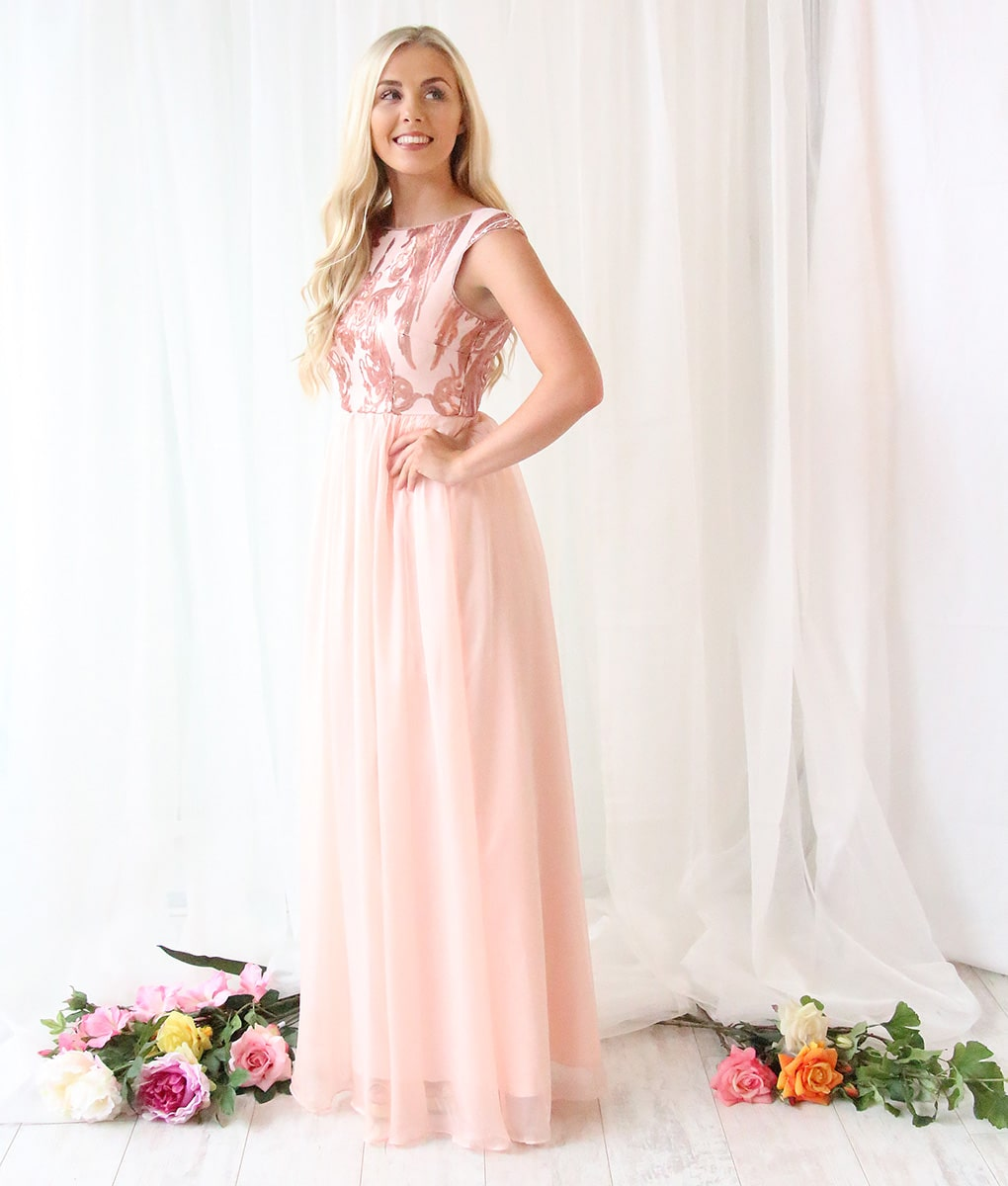 Alila-Blush-Chiffon-Debs-gown-Bariano
