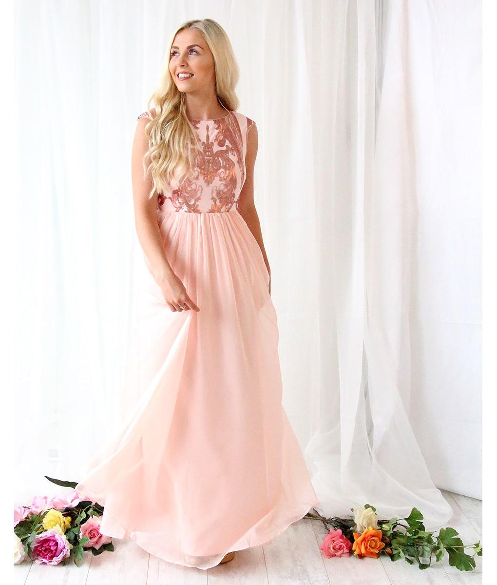 Alila-Blush-Chiffon-evening-dress-Bariano