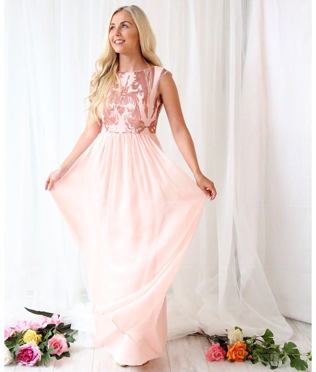 Bariano Blush Gown   Alila Boutique
