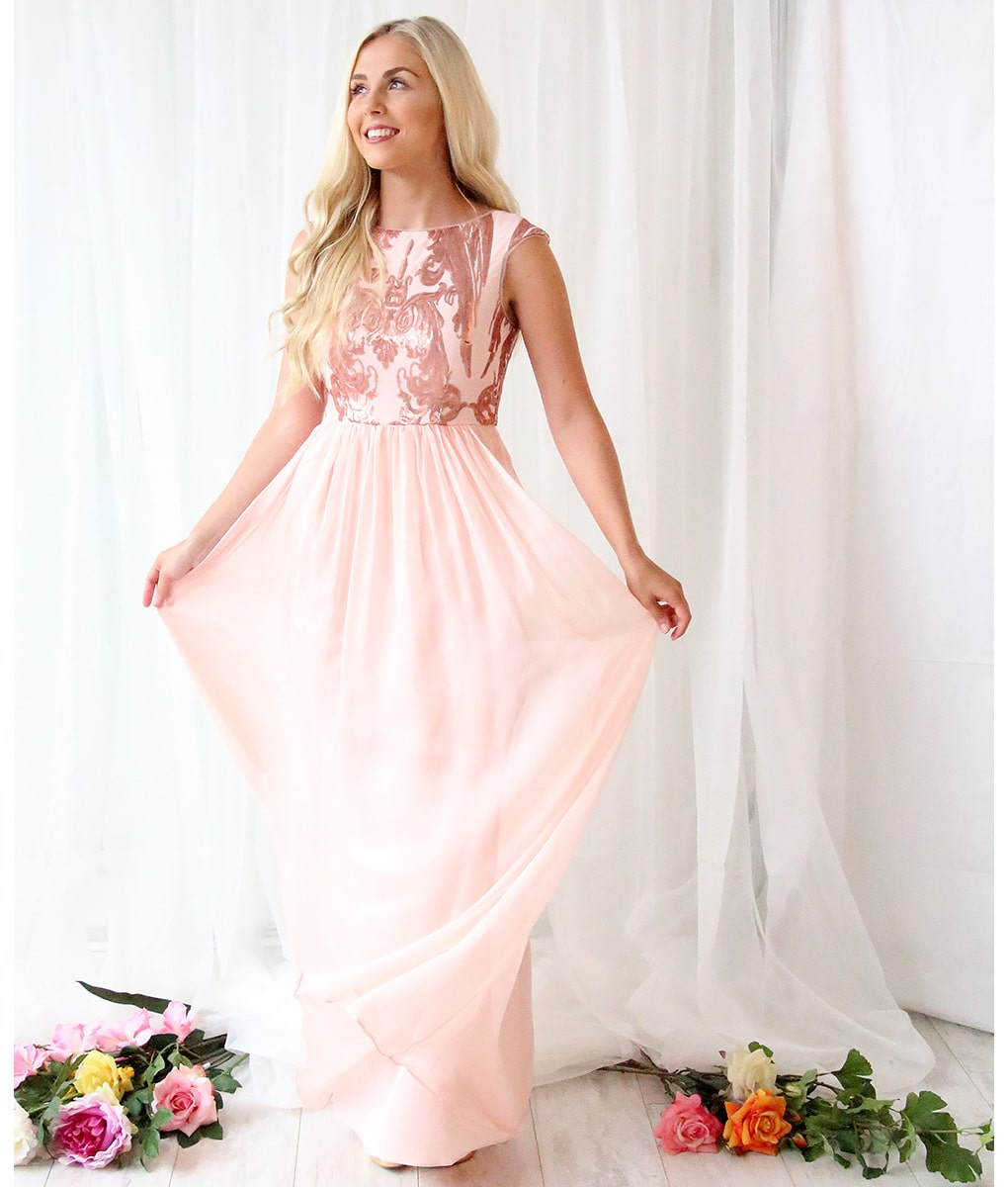 Alila-Blush-Chiffon-evening-long-gown-Bariano