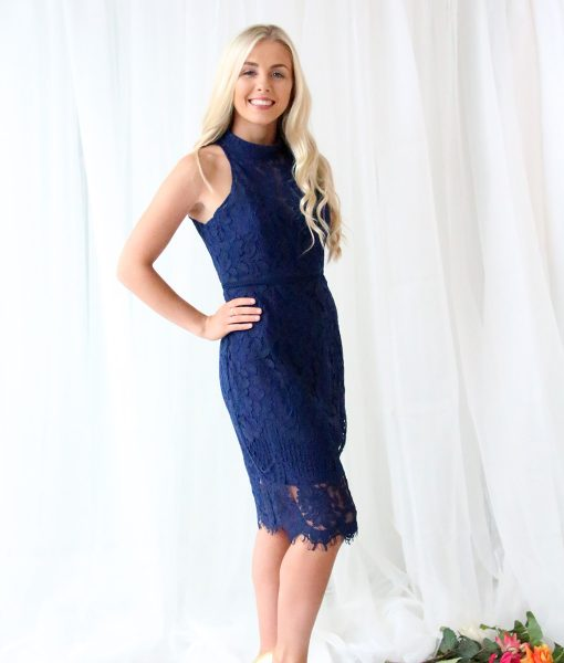 Alila-Navy-Lace-Midi-Dress-Bariano