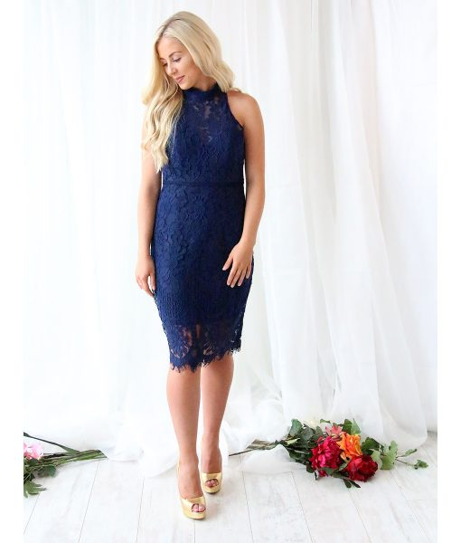 Alila-Navy-Lace-Midi-ladies-day-dress-Bariano