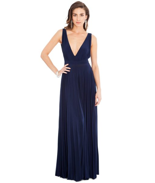Alila-Navy-plunge-neck-debs-dress-city-goddess