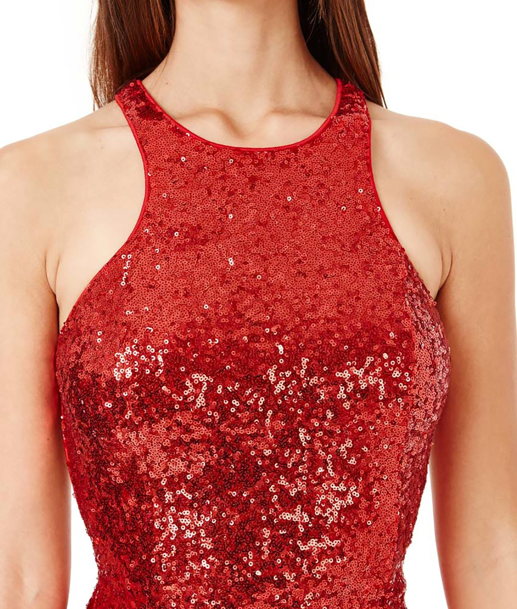 Alila-Red-Sequin-open-back-debs-dress-City-Goddess-detail