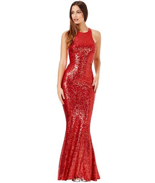 Alila-Red-Sequin-open-bow-back-debs-dress-City-Goddess