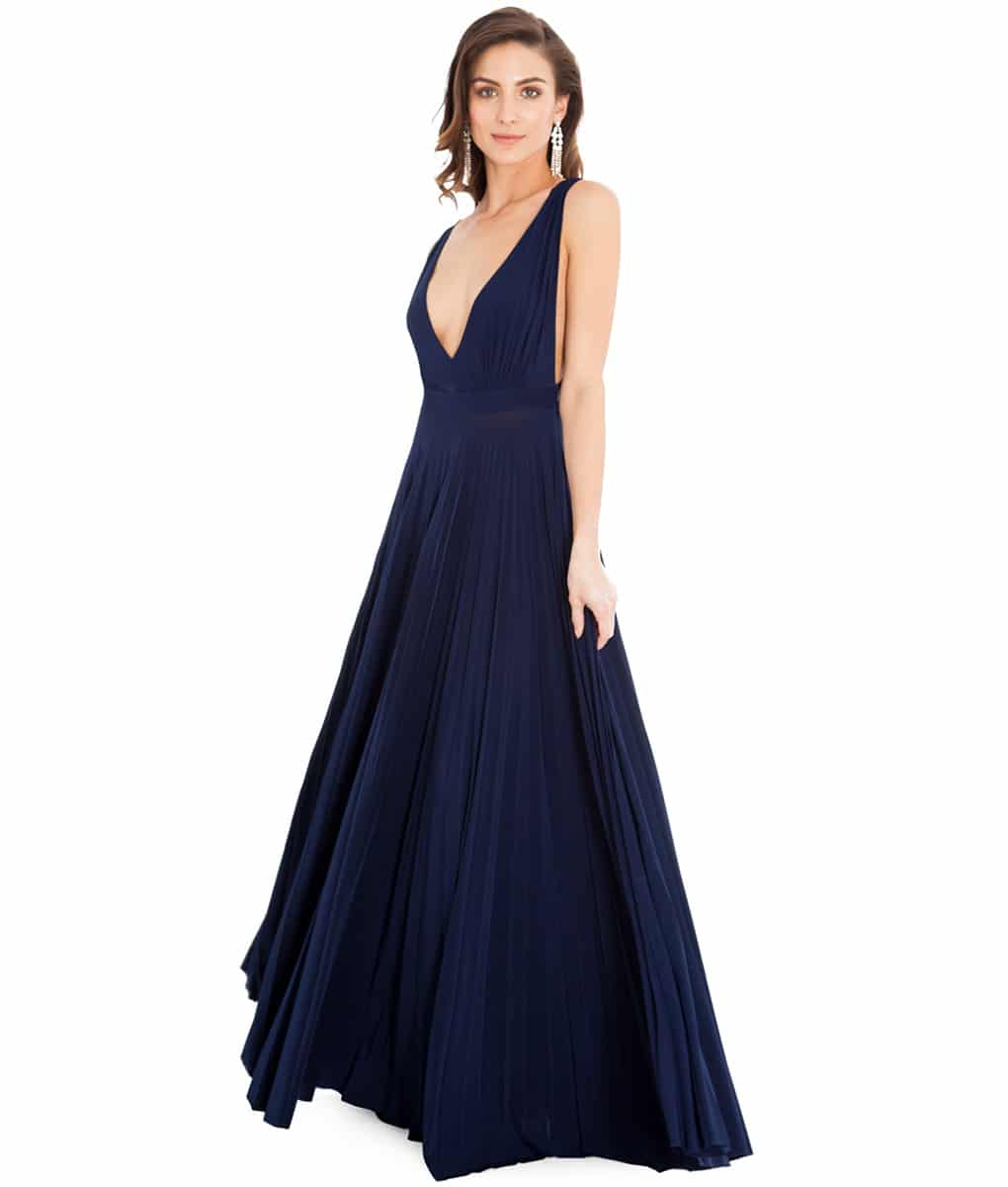 Alila Navy Plunge Gown