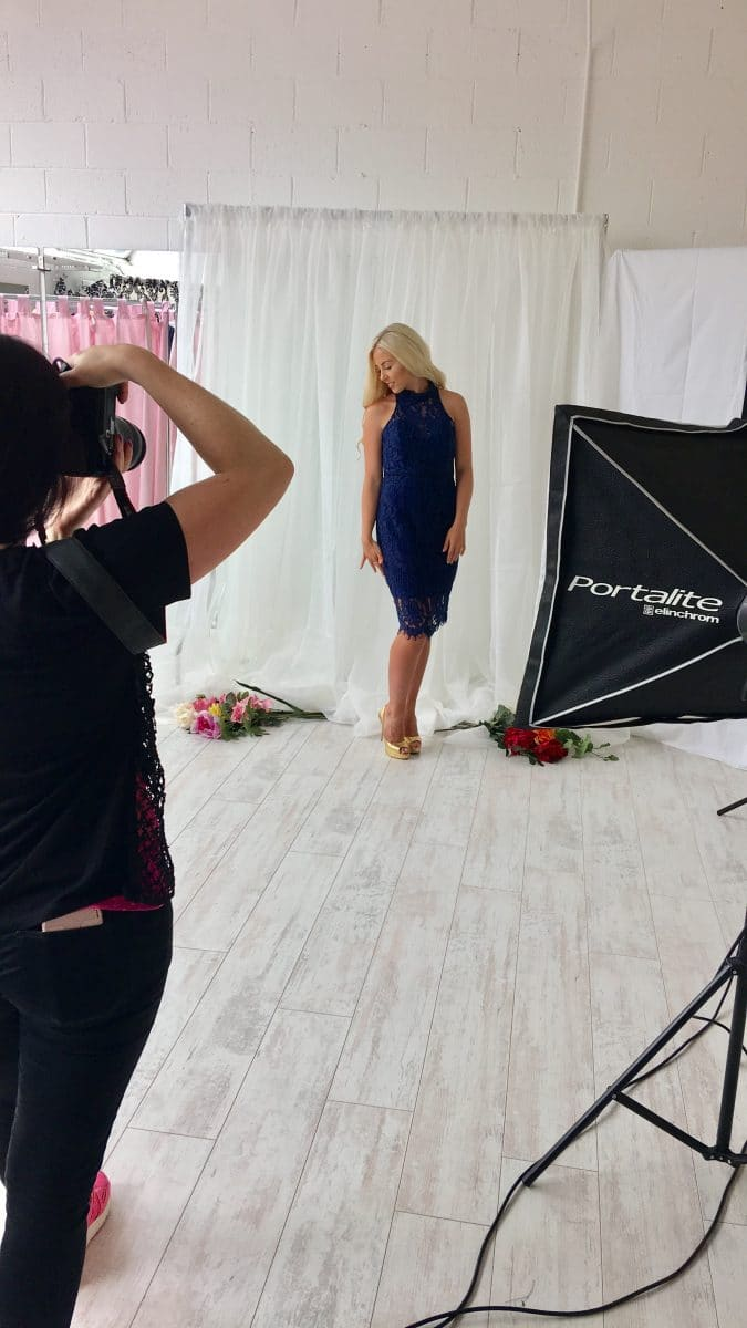 Ann - Marie Navy Lace Behind The Scenes