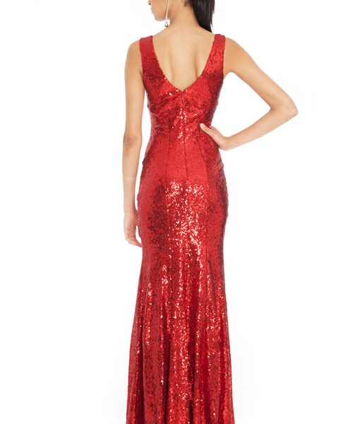 Alila City Goddess Red Luxe sequin gown