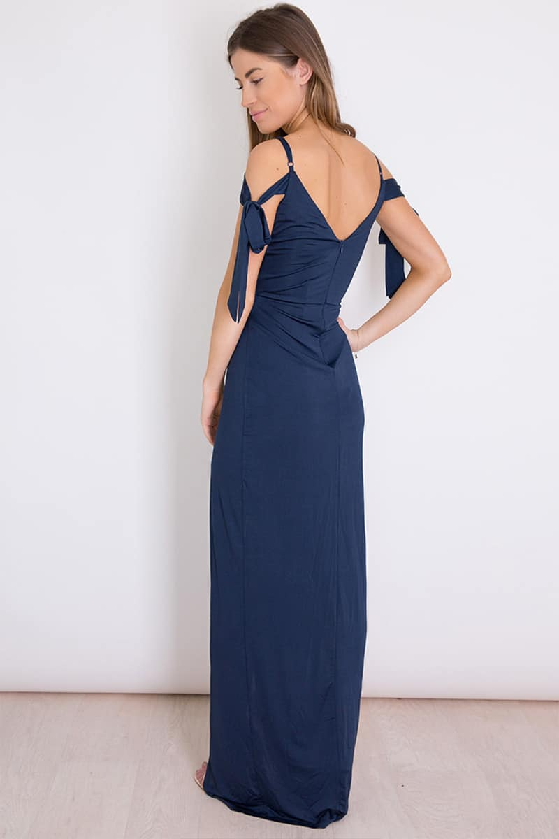 Alila-Cold-Shoulder-slinky-Navy-bridesmaid-dress-Girl-in-Mind