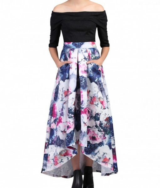 Alila-Multi-Printed-High-Low-Prom-Skirt-GREY-Jolie-Moi