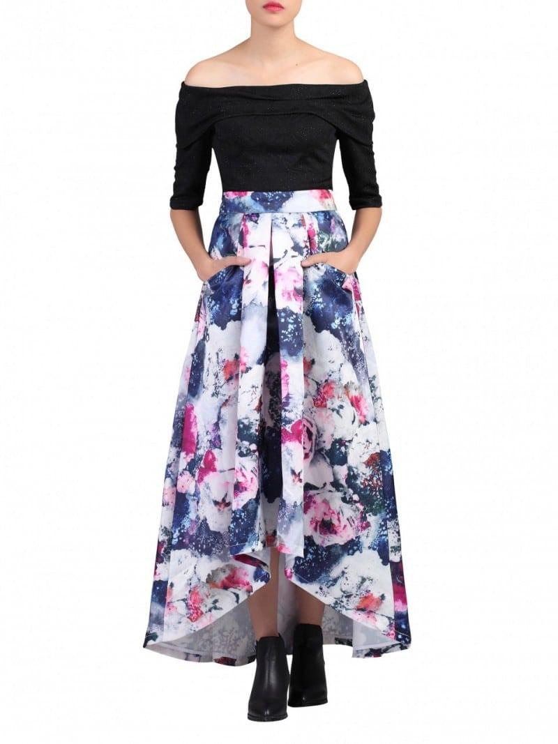 Alila-Multi-Printed-High-Low-Prom-Skirt-GREY-Jolie-Moi