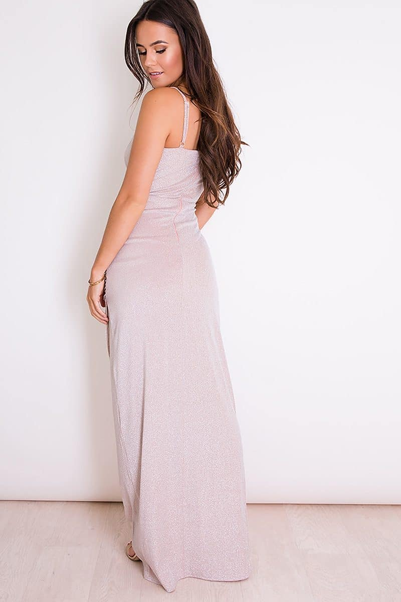 Alila-Nude-Lurex-strappy-evening-dress-Girl-in-Mind