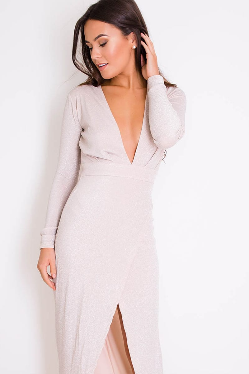 Alila Pearl Long Sleeve Jersey Gown Girl In Mind