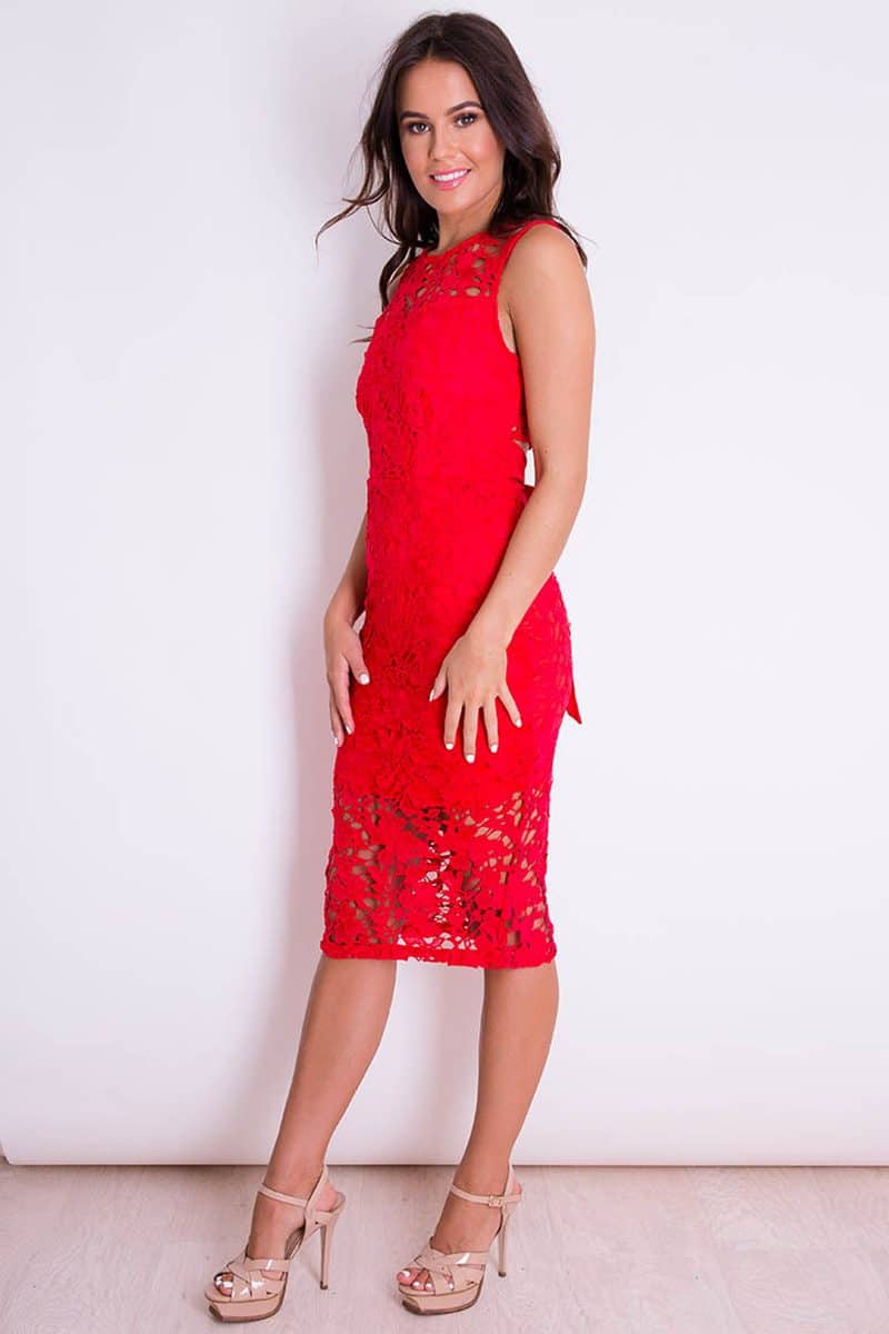 Alila-Red-Lace-Midi-Dress-open-back-Girl-in-Mind