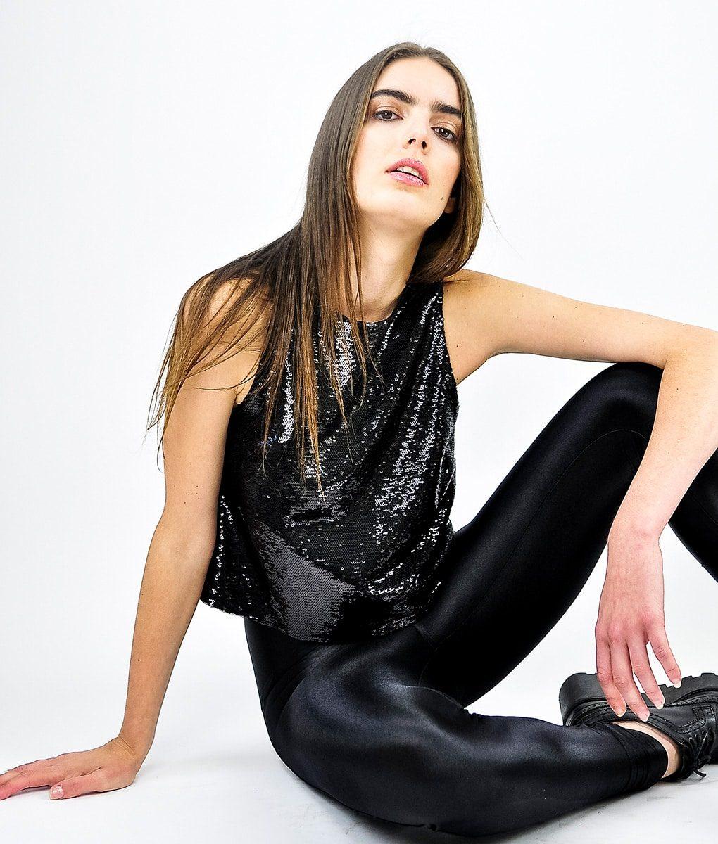 Alila-Black-Sequins-Crop-Top