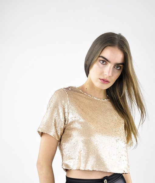 Alila-Champagne-Sequins-Crop-Top