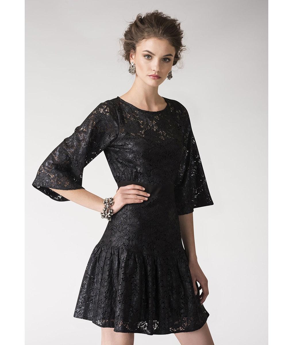 Alila-Metallic-Lace-Black-Party-Dress-Closet-London