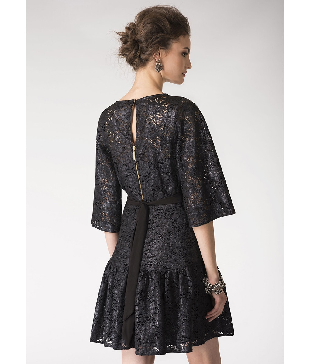 Alila-Metallix-Lace-Black-Dress-Closet-London