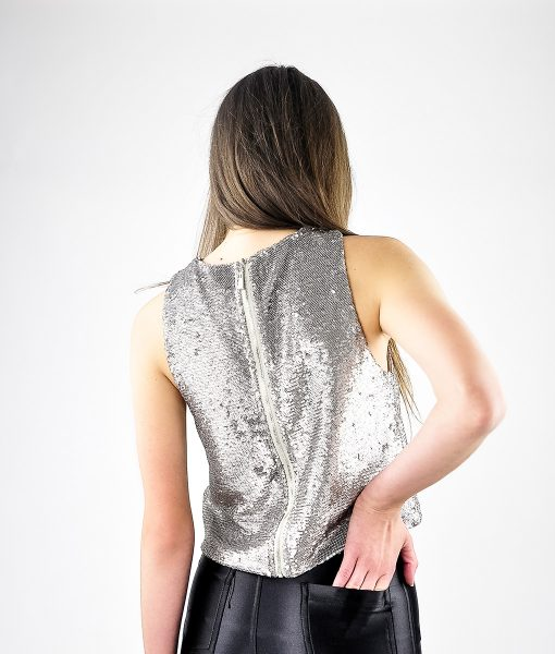 Alila-Silver-Sequins-Crop-Top