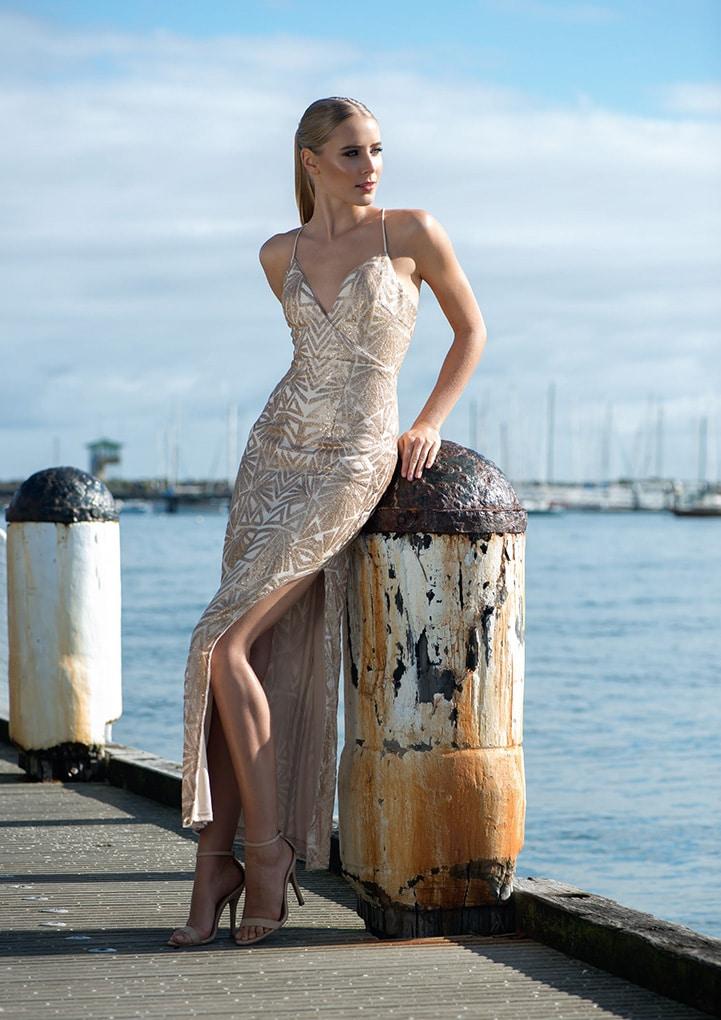 Alila-Gold-sequin-strappy-maxi-dress-Lumier-Bariano