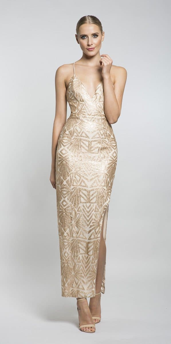 Alila-Gold-sequin-strappy-maxi-with-slit-Lumier