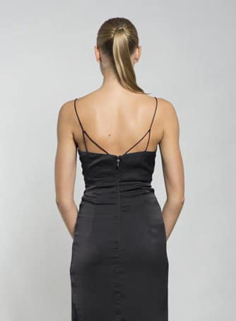 Alila-black-silky-strappy-dress-Lumier-back
