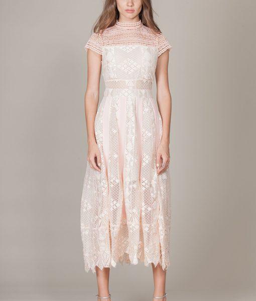 Alila-Blush-Midi-high-neck-dress-Foxiedox-calla-gown
