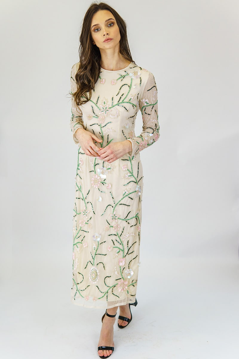 Designer Wedding Guest Dresses With Sleeves
