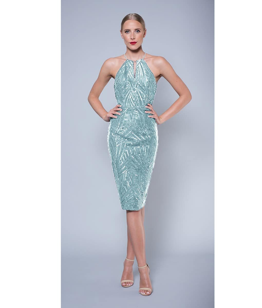 Alila-Mint-embellished-keyhole-midi-dress-Lumier-Bariano