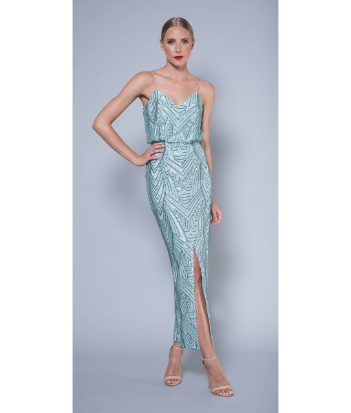 Alila-Mint-sequin-evening-dress-Lumier-Bariano