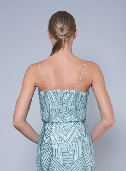 Alila-Mint-sequin-evening-dress-Lumier-Bariano-back