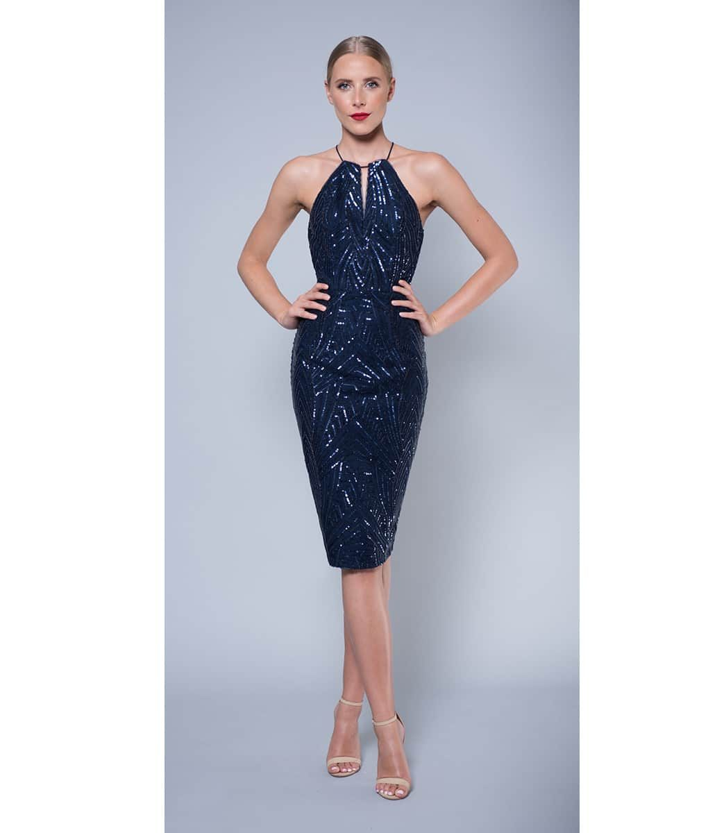 Alila-Navy-embellished-keyhole-midi-dress-Lumier-Bariano