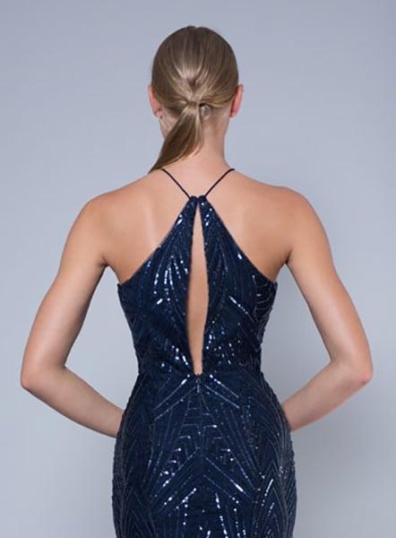 Alila-Navy-embellished-keyhole-midi-dress-Lumier-Bariano