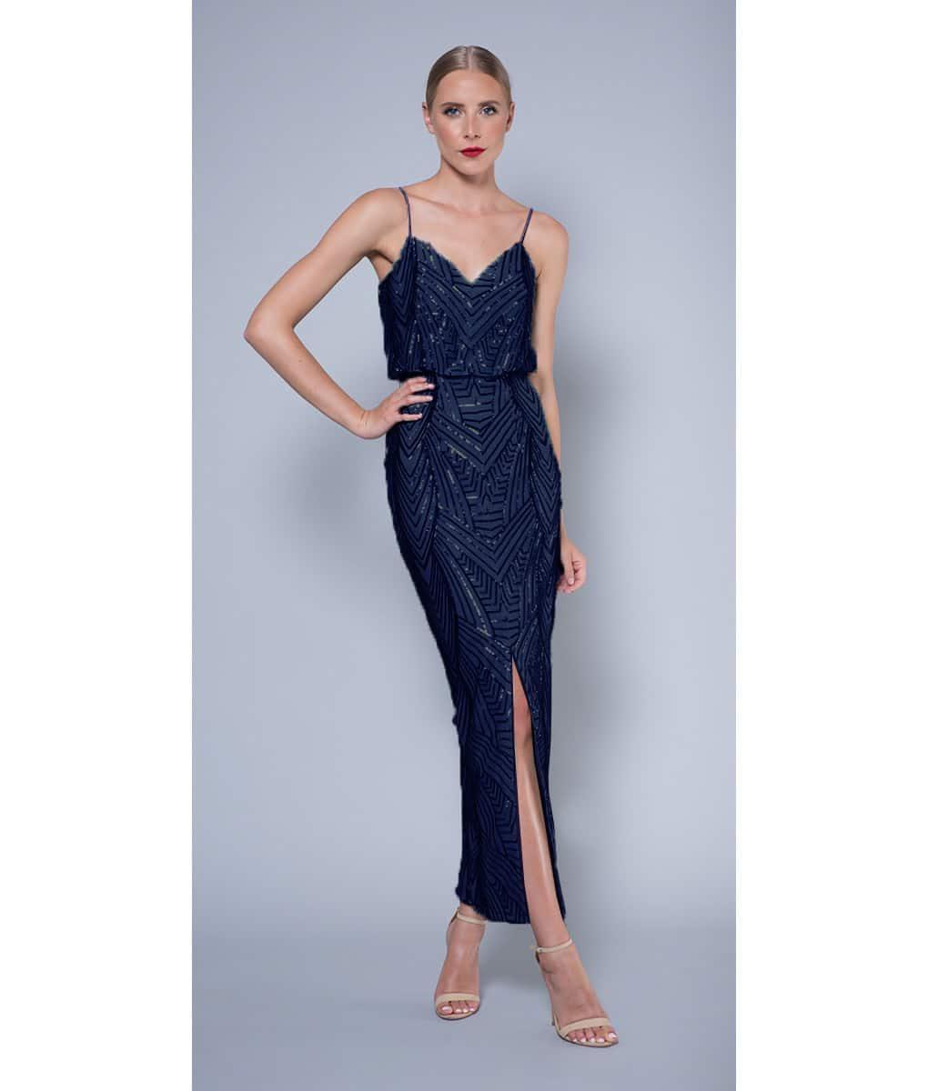 Alila-Navy-sequin-evening-dress-Lumier-Bariano