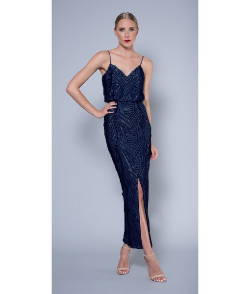 Alila-Navy-sequin-evening-dress-Lumier-Bariano