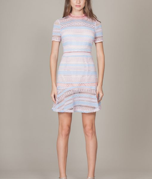 Alila-pale-pink-and-blue-short-sleeve-mini-dress-foxiedox