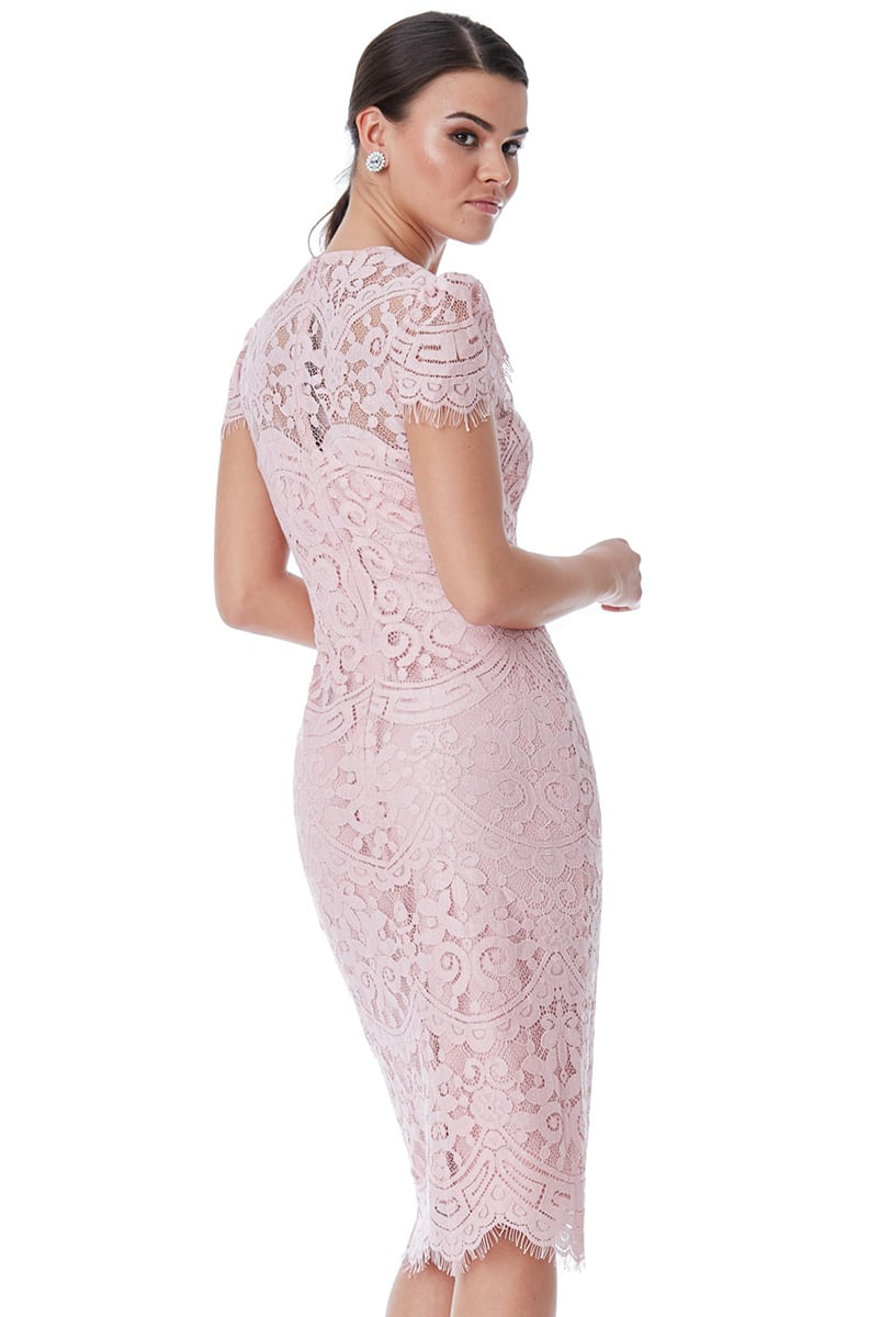 Alila-Blush-pink-Lace-midi-cap-sleeve-dress-City-Goddess