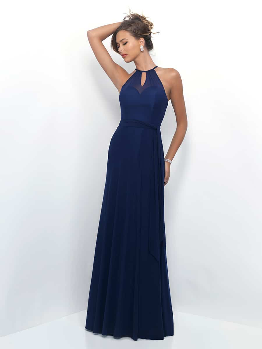 Navy Halter Neck Bridesmaids Dress By Alexia Design