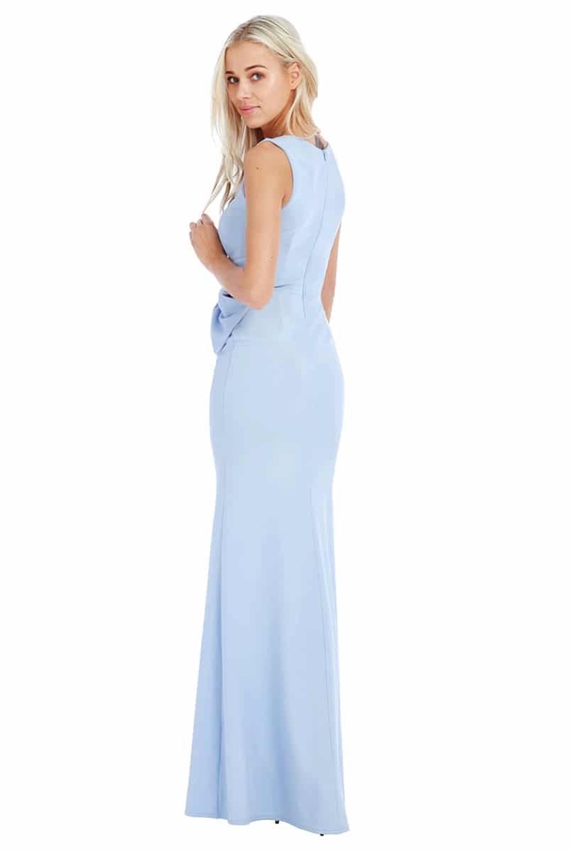 City Goddess Baby Blue Gathered Gown | Alila Boutique
