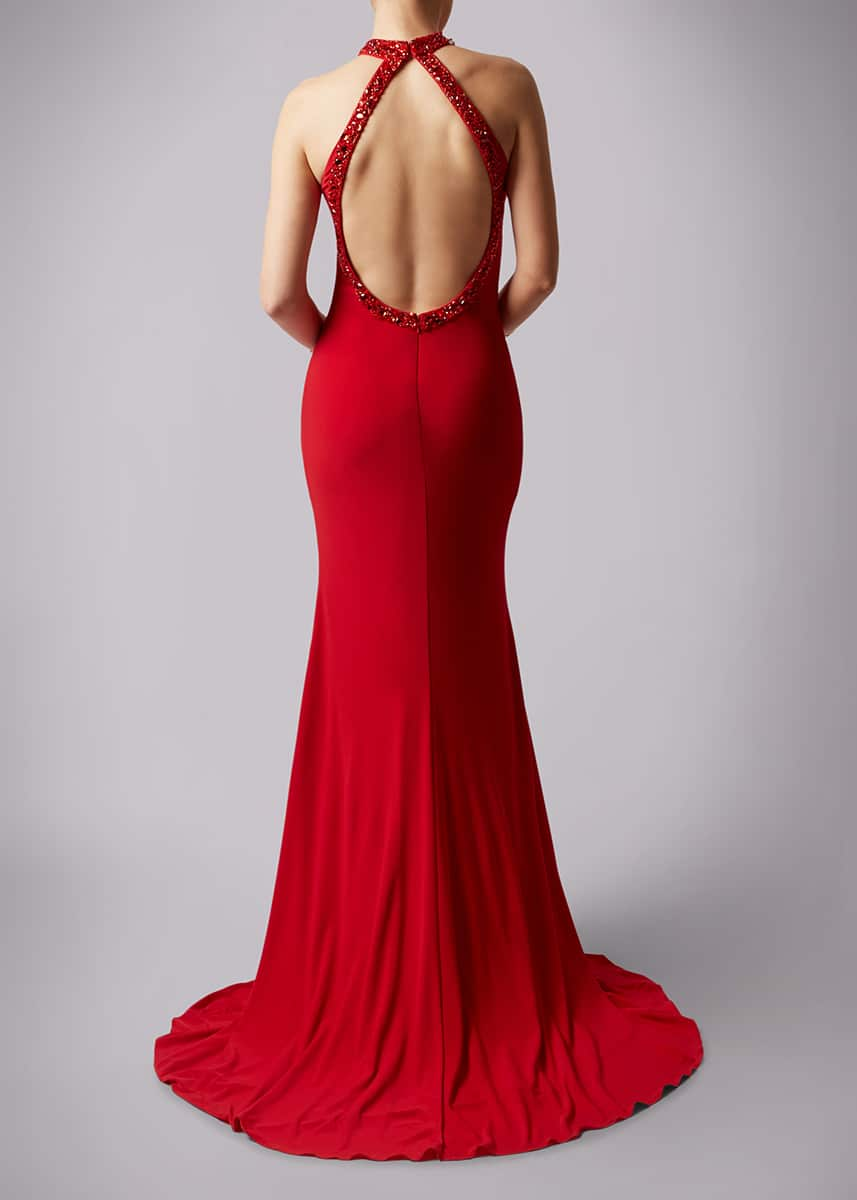 Alila-Red-backless-debs-dress-Mascara