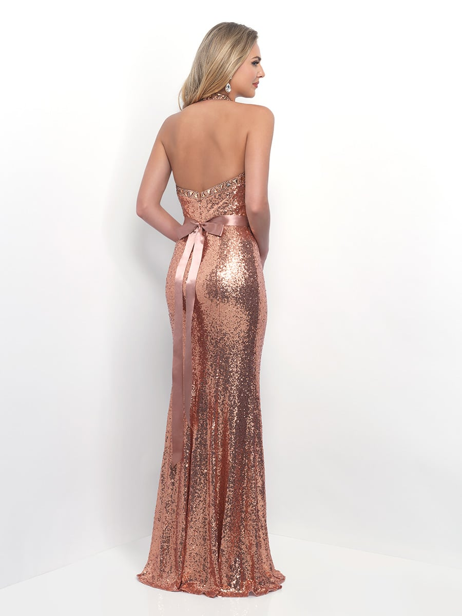 Rose Gold Sequins Bridesmaids Dress From Alexia Design