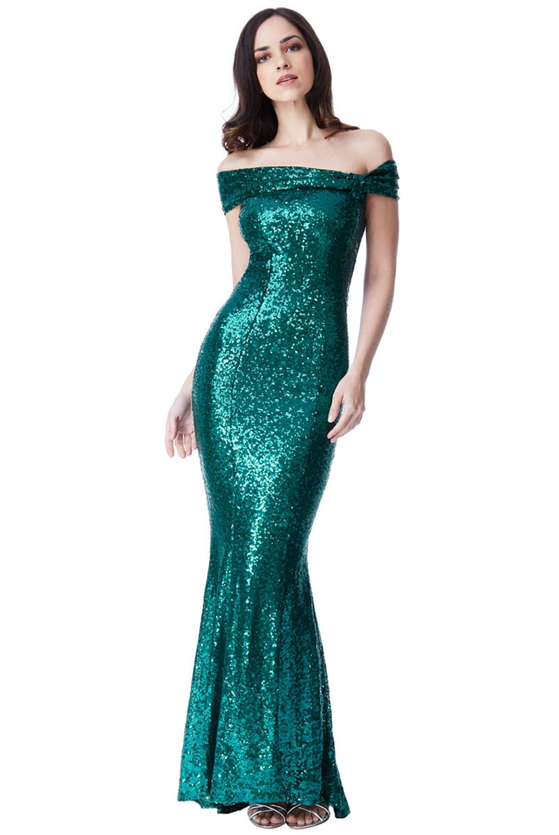 Alila-Seagreen-Sequin-Fishtail-debs-dress-City-Goddess