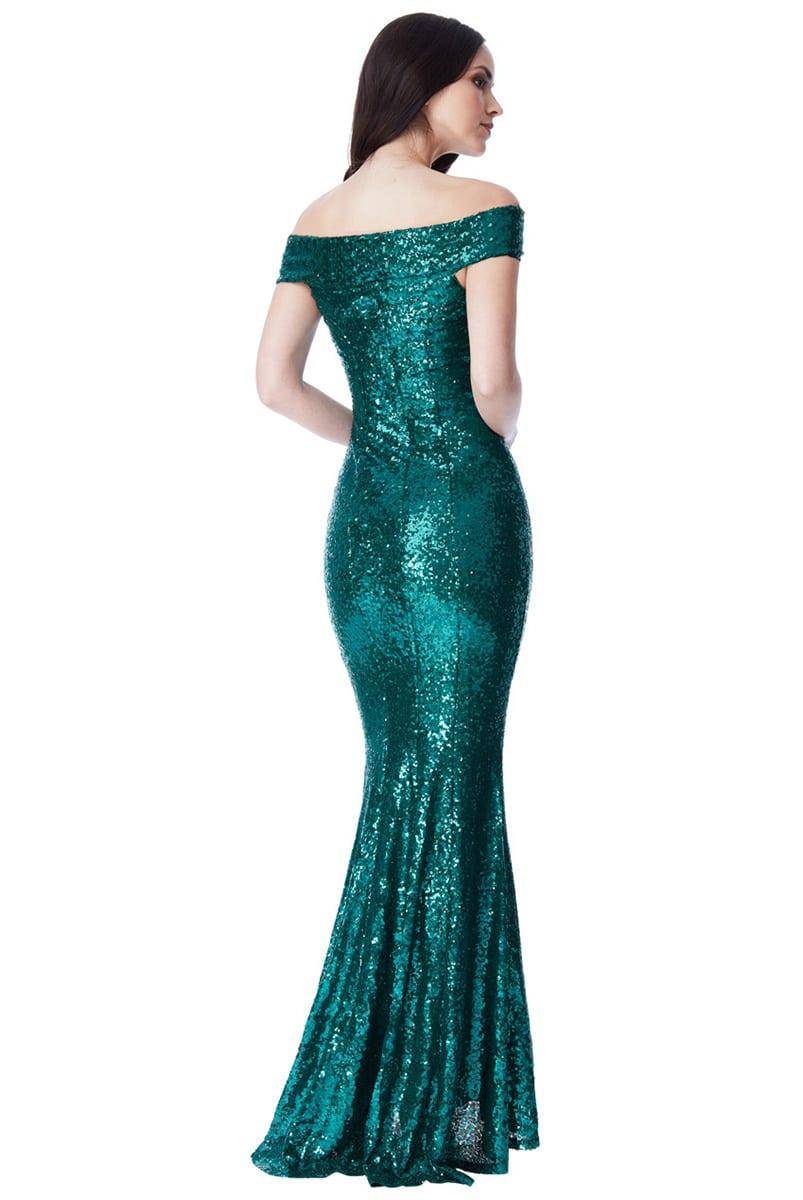 Alila-Seagreen-Sequin-Fishtail-debs-dress-City-Goddess